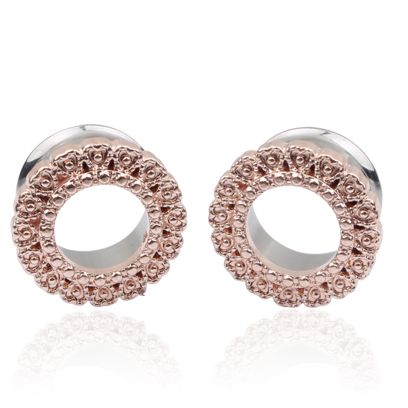 Useful 6mm Ear Tunnels Bling Body Piercing Jewelry