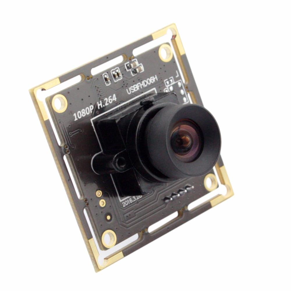 No distortion Lens H.264 1080P USB Camera Module For Raspberry pi . Low Illumination Sony imx322 Sensor Webcam
