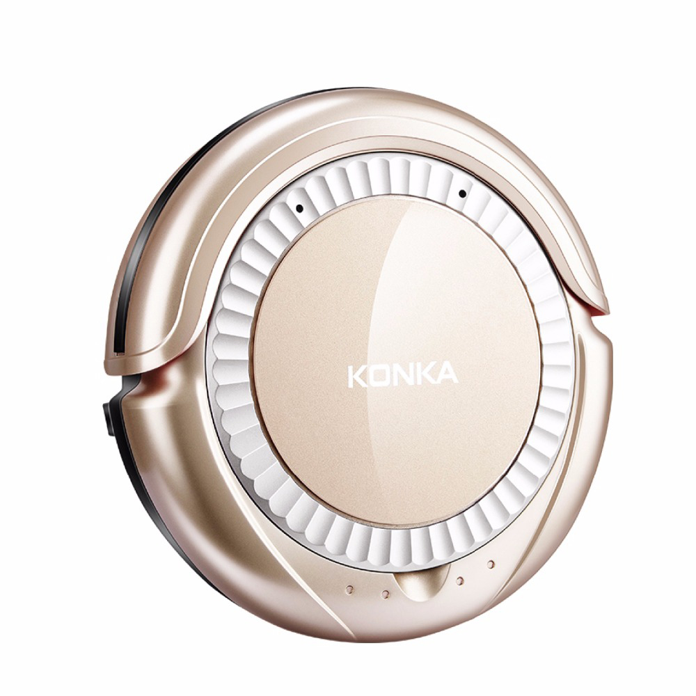 KONKA KC-D1 Smart Robotic Vacuum Cleaner For Home with Mopping Automatic Wireless Remote Control Cleaning Robot 0.3L Original jisiwei s smart robotic vacuum cleaner tpu avoidance sensor remote mobile app control hd camera robot mopping tool
