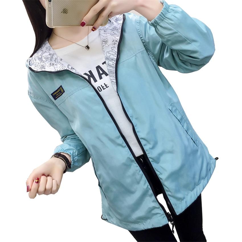 Autumn Spring Women Casual   Jackets   Female Cartoon Coats Ladies Hooded Short Coat Girl Long Sleeve   Basic     Jacket   Outwear WZ006