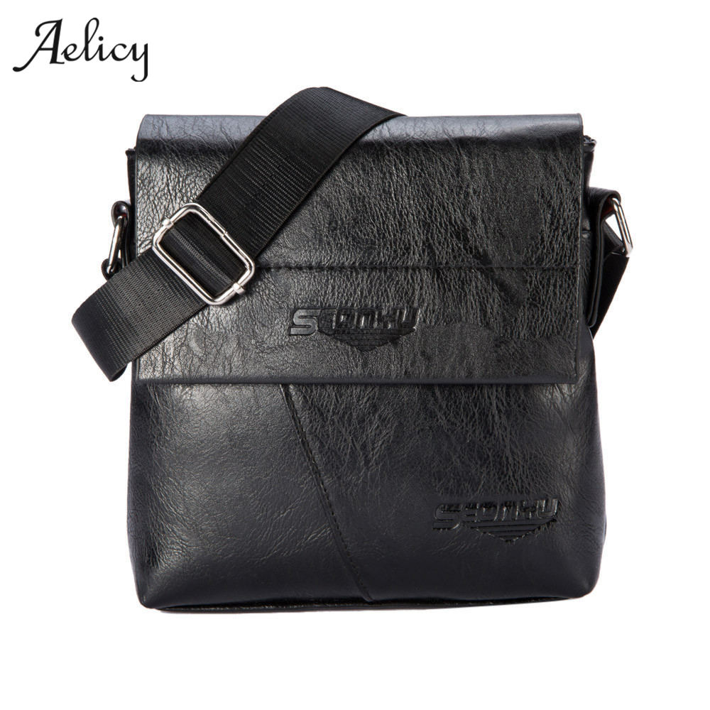 Aelicy New Arrival Fashion Business Leather Men Messenger Bags Small Crossbody Shoulder Bag Casual Man Bag bolsa feminina