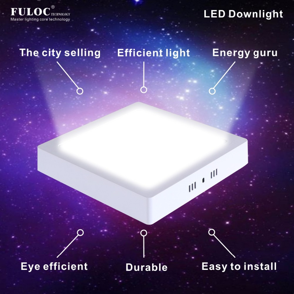 Led panel light surface mounted downlight 12w18w24w32w ceiling led panel light surface mounted downlight 12w18w24w32w ceiling light panel square led ceiling light ac 110v 240v driver in led panel lights from lights dailygadgetfo Choice Image
