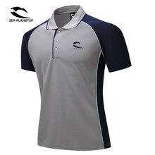 海 PLANETSP ブランド服ポロシャツソリッドカジュアルポロのためのオム Tシャツトップス高品質ポリエステルレジャー受け入れるカスタム
