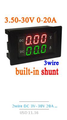 DC 4.5-40V Digital LED Voltmeter High-Low Voltage Alarm Monitor Tester Detector