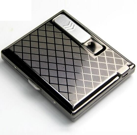 Windproof Electronic Cigarette Lighter Men s Cigarettes Box Light Rechargeable USB Smoking Lighter Personality Christmas Gift