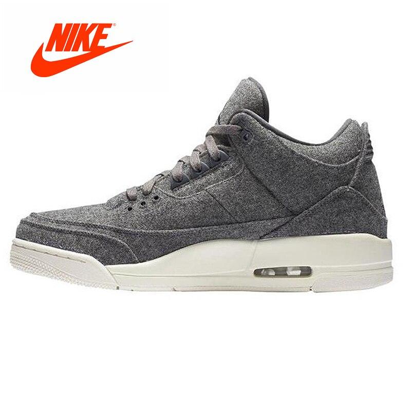 Original New Arrival Authentic Nike Air Jordan 3 Retro Wool Dark Grey Dark Gray Wool Men's Basketball Shoes AJ 3 Men Sport Shoes