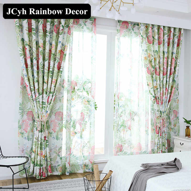 Leaf Green Blackout Curtains For Living Room Bedroom Window Curtain Treatments Home Decorative Ds Blinds Cortina