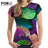 FORUDESIGNS 2017 Summer Women Casual T Shirt Short Sleeved Woman Top 3D Printing Tees Female Shirt
