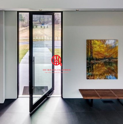 2018 New Modern Aluminum Pivot Door Systems, Black Pivot Entry Doors For  Sale
