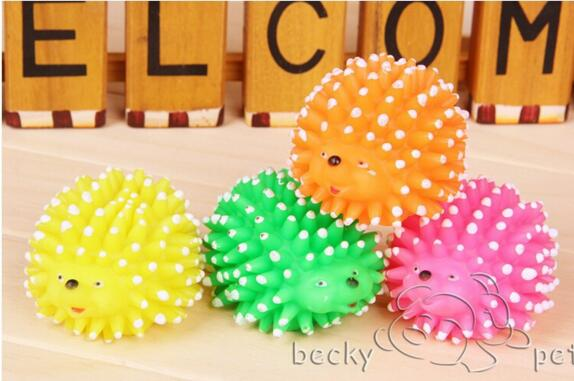Flight Tracker Party Favors New Cute Hedgehog Shape Pet Dog Puppy Squeaky Chew Toy Squeaker Ball Funny Toys Random Color 360pcs Festive & Party Supplies
