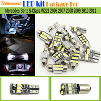 Buildreamen2 Car 2835 LED Bulb No Error LED Kit Package White For Mercedes Benz S Class W221 2006 2011 Interior Dome Map Light
