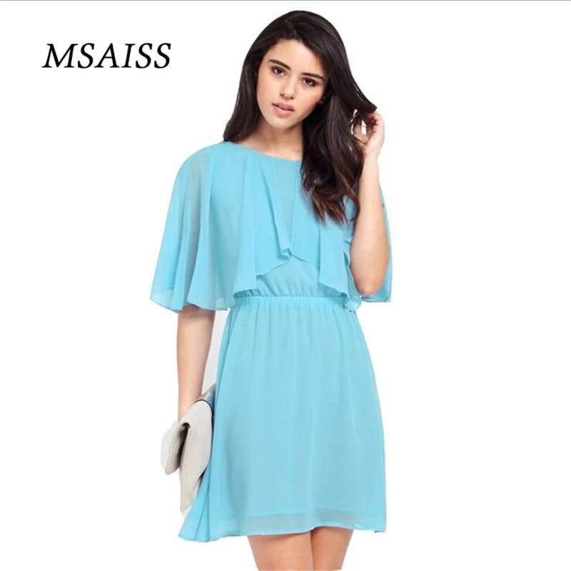 MSAISS női nyári ruha 2017 fekete fél ruhák női ruha sifon - Női ruházat