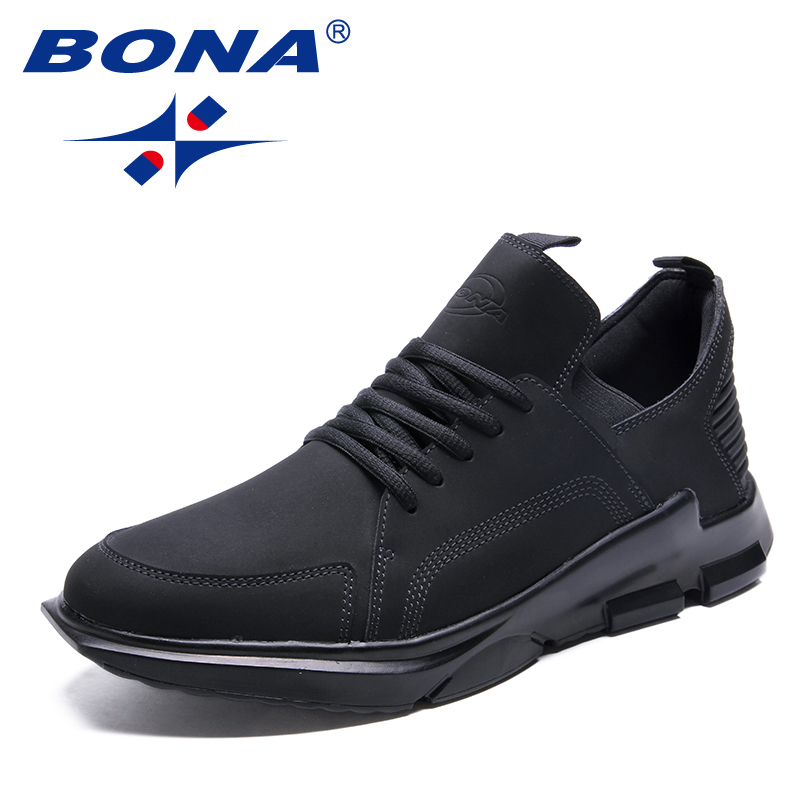 BONA New Classics Style Men Walking Shoes Lace Up Men Athletic Shoes Outdoor Jogging Sneakers Comfortable Soft Free Shipping