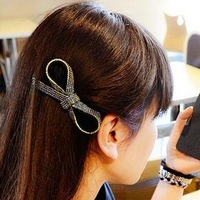 3pcs full bow Rhinestone clamp taobao hot style Han edition hair South Korea imported headdress hairpin Headwear rubber band