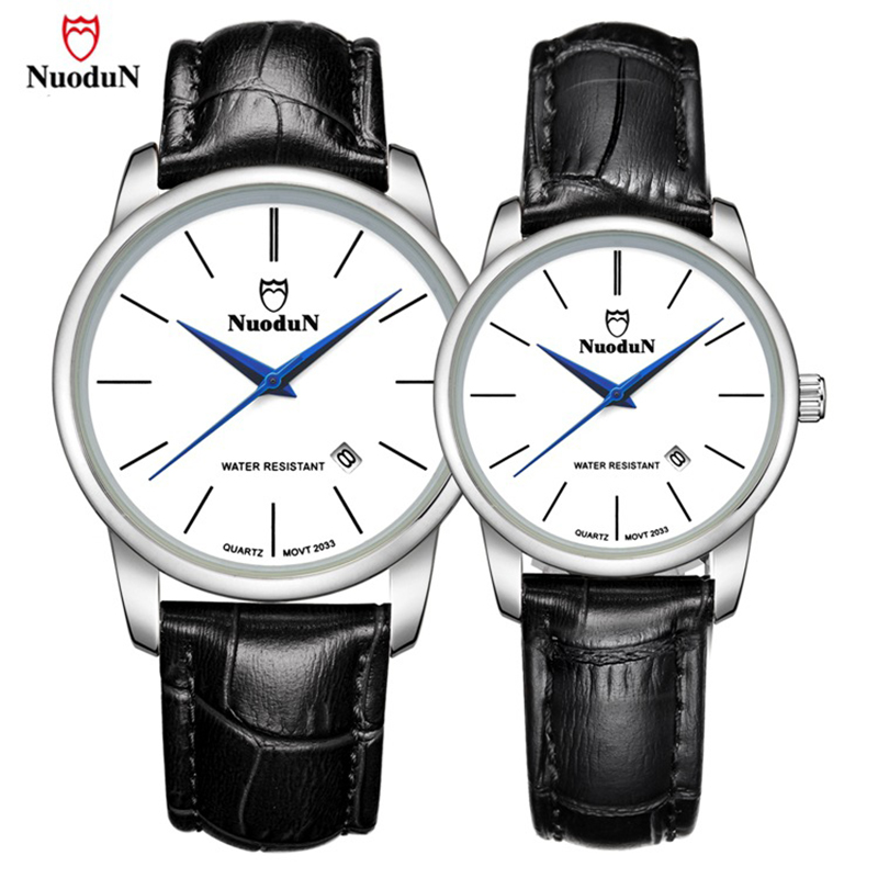 New Arrival Lovers Quartz Watch Men Leather Band Stainless Steel Case Brand Women Watches Casual Fashion Wristwatch Relogio 2033 rushed real new with tags 2pcs set 2016 fashion business stainless steel roman numerals quartz leather band lovers watch