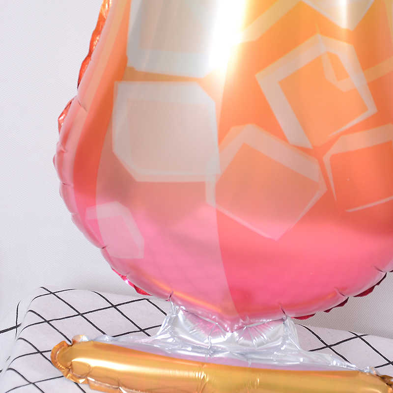 Decoração Suprimentos Nova Venda Grande Garrafa de Champanhe Balão Balões Folha Festa de Aniversário de Casamento Flamingo