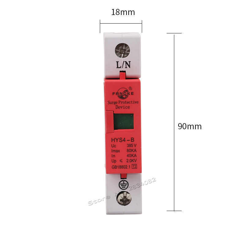 385V 40KA ~ 80KA 1 P 1 pole SPD zabezpieczenie przeciwprzepięciowe domu ochronne niskonapięciowe urządzenie ograniczające HYS4-B/1 50hz/60hz szyna din