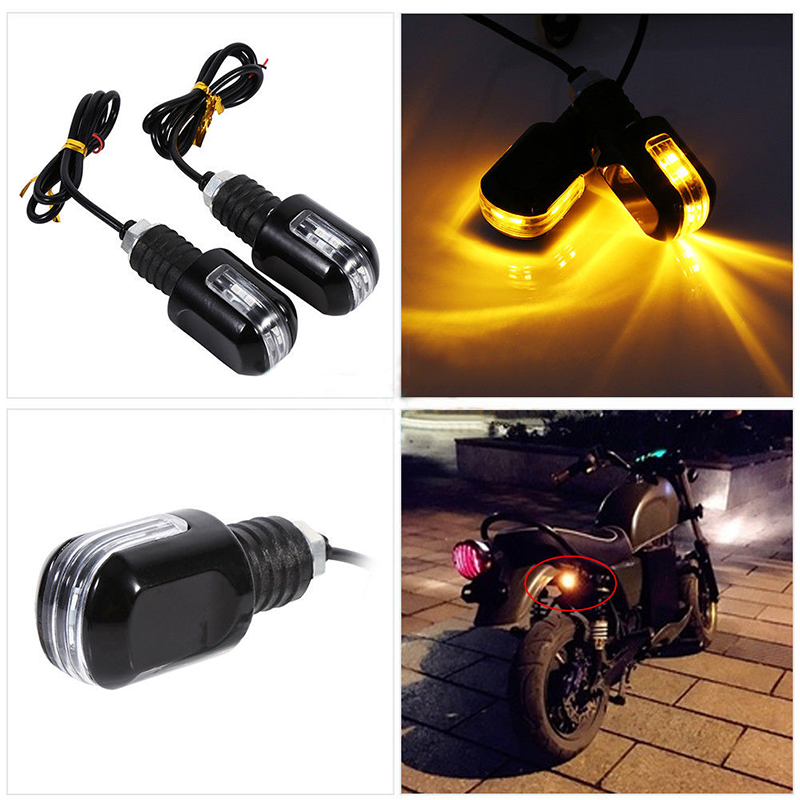 Motorcycle 7/8 LED Handlebar Motorbike Turn Signal Light Amber Indicator Flasher new Universal
