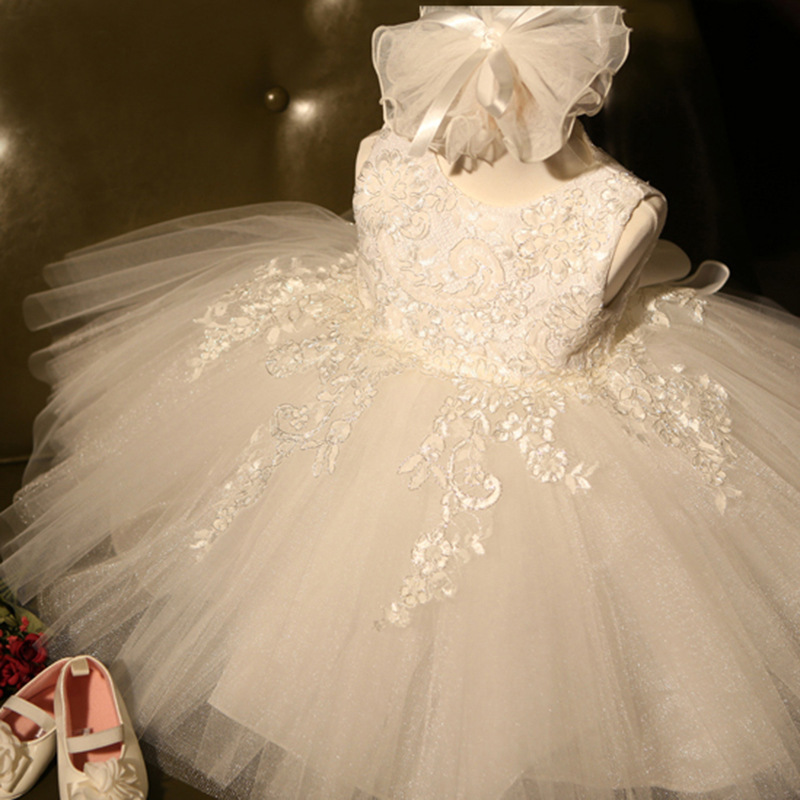 Flower Baby Girl Lace Dress Floral Birthday Party Dresses Ball Gown Baby Girl Princess Dresses Party Costumes vestido unicornio