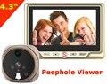 Good Price 4.3 inch home Digital Peephole Viewer Doorbell Outdoor 120 Degree 1350mAh battery  Zinc Alloy VRQUNIQUE