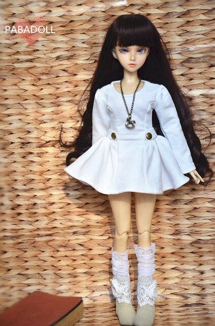 Fashion White Military Uniform Wind Dress For BJD Girl 1 /4 MSD,1/3 SD10/13,SD16 IP EID LUTS.AS.DZ.MSD SD Doll Clothes CWB9