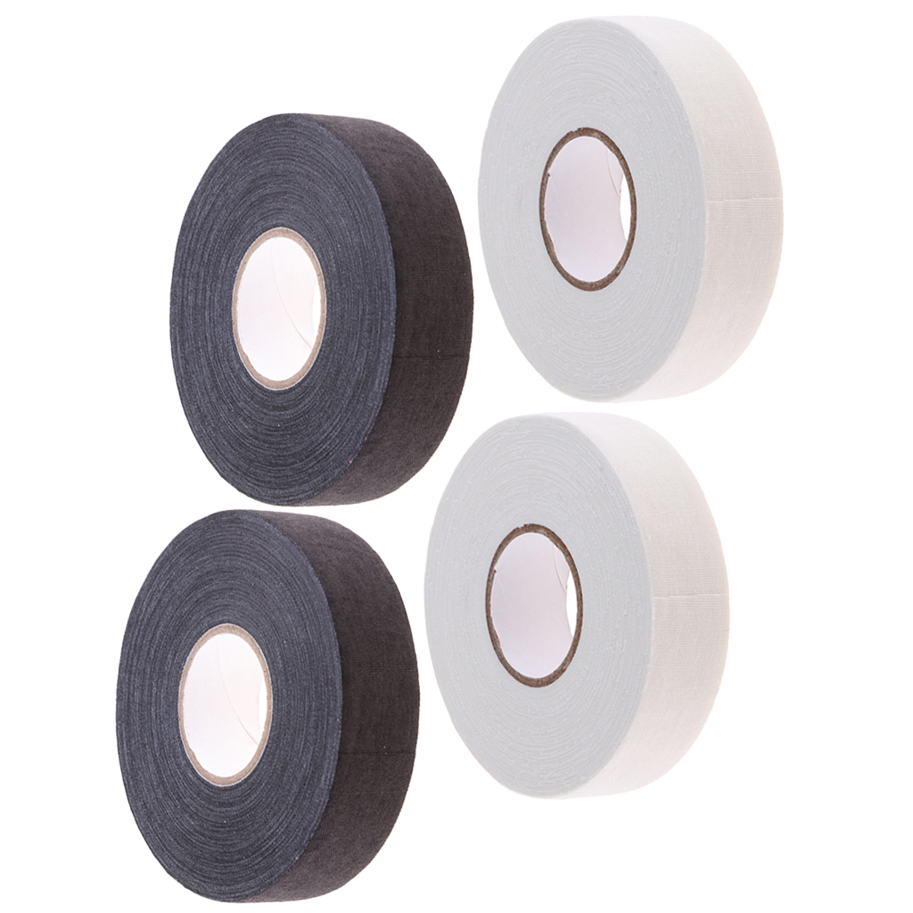 4 Count Ice Hockey Stick Tape Blade Cloth Tape Wrap Bandage For Lacrosse Badminton Handle Bar Grip 23m