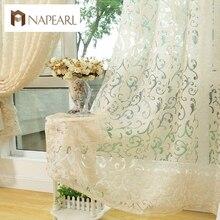 Estilo europeo jacquard cortina para el hogar cortinas cortinas para la cocina