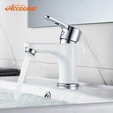 Accoona смеситель для раковины Современный кран для ванной комнаты окрашенный латунный Одной ручкой одно отверстие кран горячей и холодной воды палуба A9067