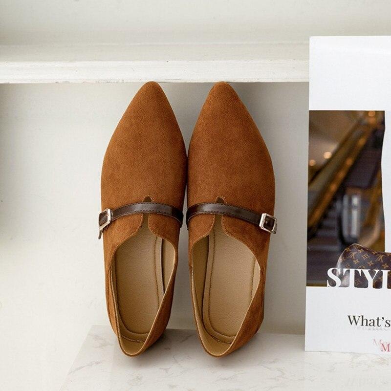 Für Frauen On Toe 34 Mode Oxford Beiläufige as Marke Plus Frau 43 As klassiker Slip Größe Komfortable Mid Photo Schuhe Gezeigte Heels Photo Dick av0wq7