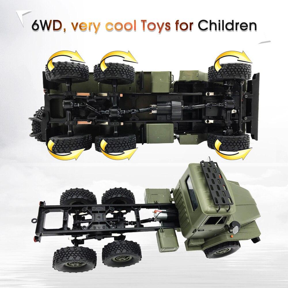 WPL RC camión B36 Ural 1/16 2,4G 6WD de Control remoto Camión Militar Rock Crawler coche Hobby juguetes para niños carro eletrico - 4