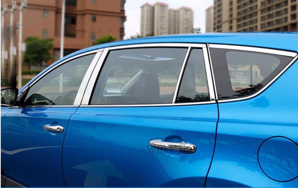 Fit Pour Toyota RAV4 2016 2017 2018 voiture bâton en acier inoxydable verre fenêtre garnir pilier colonne du milieu bande garniture streamer 22 pcs