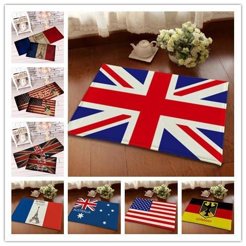 buy flannel national flag front door mat bathroom mat soft warm water. Black Bedroom Furniture Sets. Home Design Ideas