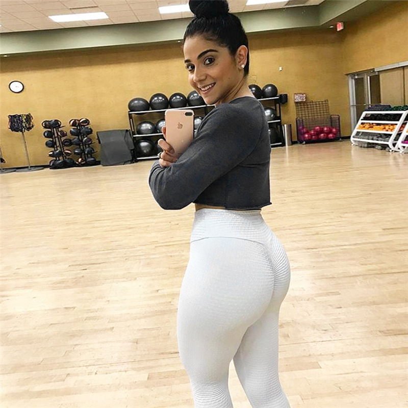 Ruching push up leggings for fitness clothing 2018 bodybuilding sexy legging sportswear athleisure black women s