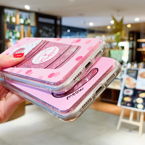 Image 4 - Liquid Quicksand Phone Case For Xiaomi Redmi Note 5 Pro Mi 8 Love Heart Glitter Cover For Redmi Note 4X Luxury Glitter Coques