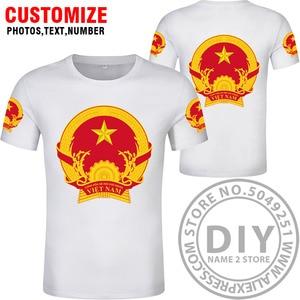 Image 4 - ויאטנם t חולצה diy משלוח תפור לפי מידה שם מספר vnm חולצה האומה דגל vn וייטנאם וייטנאמי המדינה טקסט הדפסת תמונה בגדים