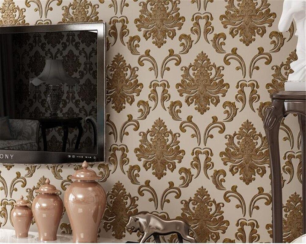 Beibehang Luxury Living Room Wallpaper European 3D Stereo Bedroom Wallpaper European High - grade Embossed 3D Wallpaper behang blue earth cosmic sky zenith living room ceiling murals 3d wallpaper the living room bedroom study paper 3d wallpaper