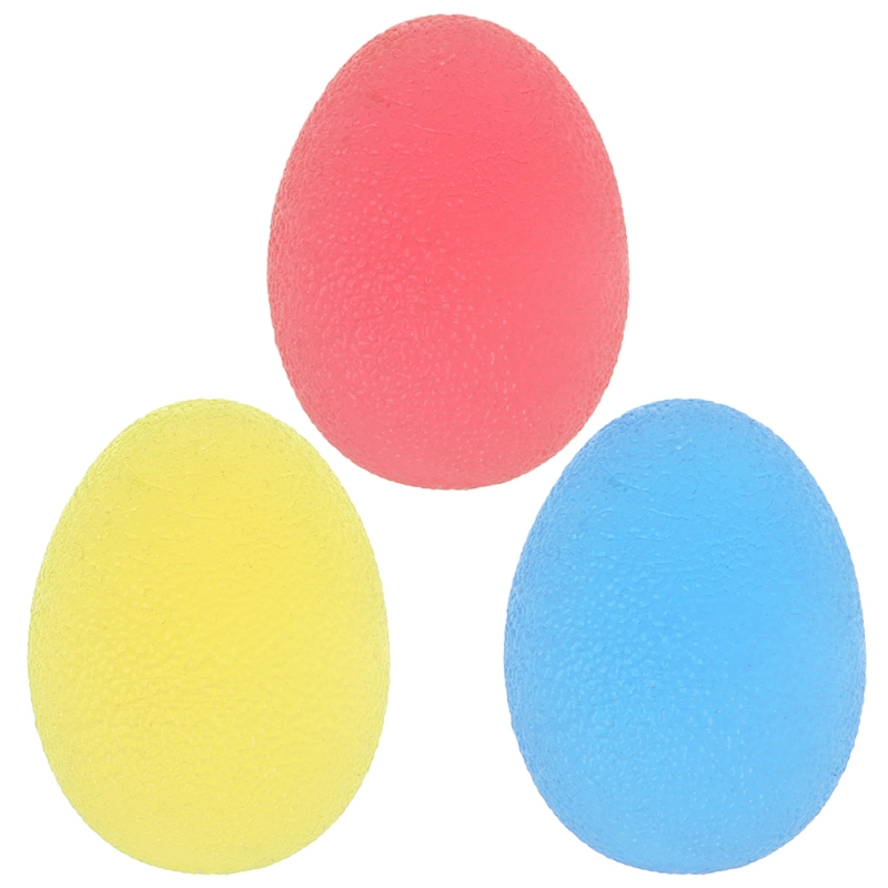 3 Colors Silicone Egg Massage Hand Gripper Strengths Stress Relief Power Ball Forearm Finger Exercise Fitness  Hot Sale
