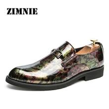 ZIMNIE zapatos de fiesta de charol Oxford para hombre, calzado Formal, punta estrecha, para negocios y boda, talla 38 ~ 46