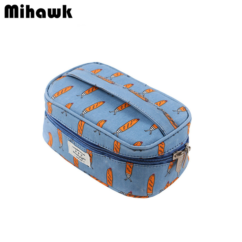 Girl's Cute Cosmetic Bag Travel Organizer Functional Makeup Pouch Case Beautician Necessaire Toiletry Accessories Supply Product
