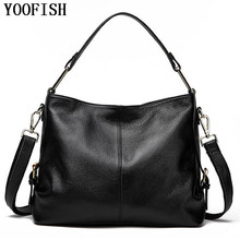 YOOFISH  Casual Tote Women Shoulder Bags Cow Genuine Leather Women Bags Designer Brand Female Handbags Hobo Crossbody Bags Sac miss ying brand women genuine leather shoulder bags designer handbags high quality female large cow leather traveling tote bags