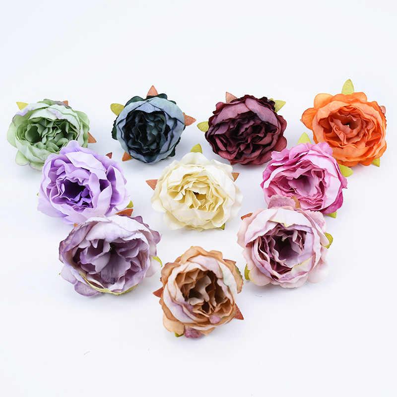 6 pçs peônia de seda stamen falso plástico flor casamento decoração para casa acessórios flores artificiais presentes diy broche de noiva scrapbook