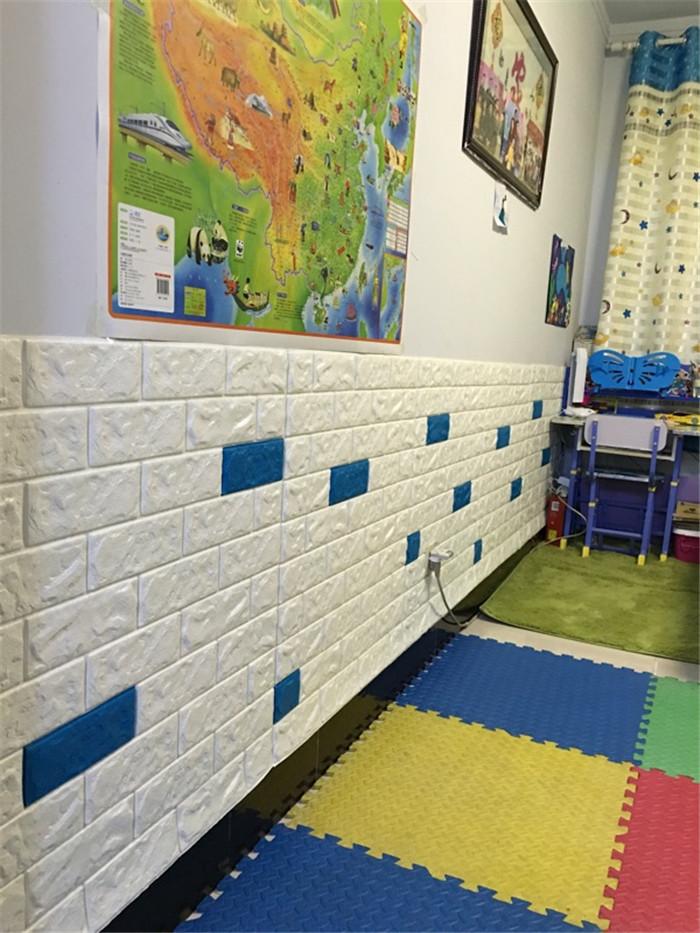PCV 3D salon mur ceglany wzór tapety stickie dormitorium sypialnia retro wzór tapety adhesive392-F cegły 33