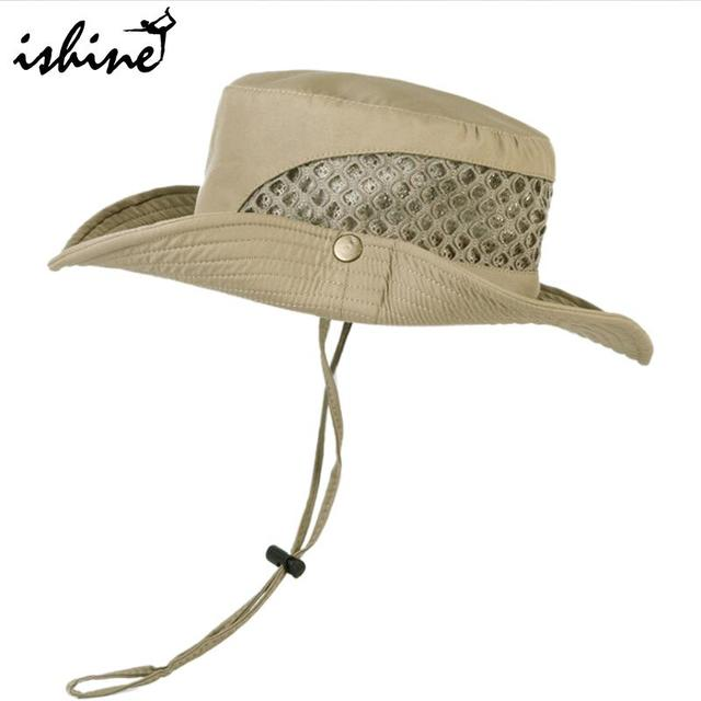 429bd1cd Summer Breathable Mesh Beach Hats Man Wide Brim Sun Protection Ultraviolet-proof  Collapsible Bucket Hat Fishing Hat Outdoors Sun