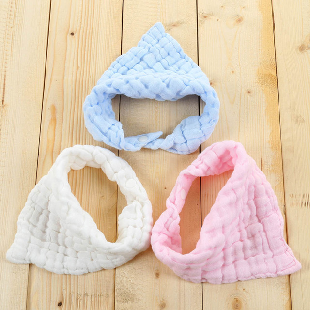 6 layers Baby Bibs Newborn Face Towel Cotton Kids Wash cloth Handkerchiefs Baby bib 4 colors