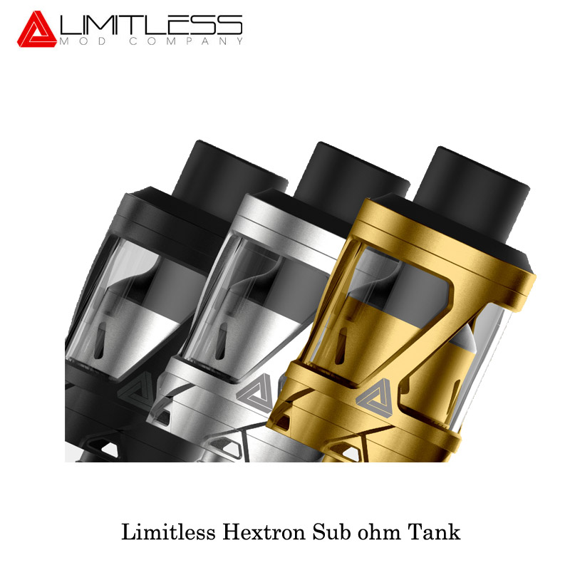 Sale Clearance Electronic Cigaratte Limitless Hextron Sub Ohm Tank 3ml Capacity 24mm Diameter Fit Limitless Arms Race 200W Vape