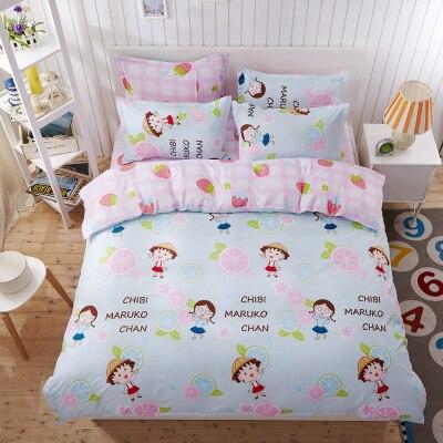 2017 Fashion 4pcs/set Bedding Set Duvet Cover Sets Soft Cotton Bed Linen Flat Bed Sheet Set Pillowcase Home Textile Drop Ship