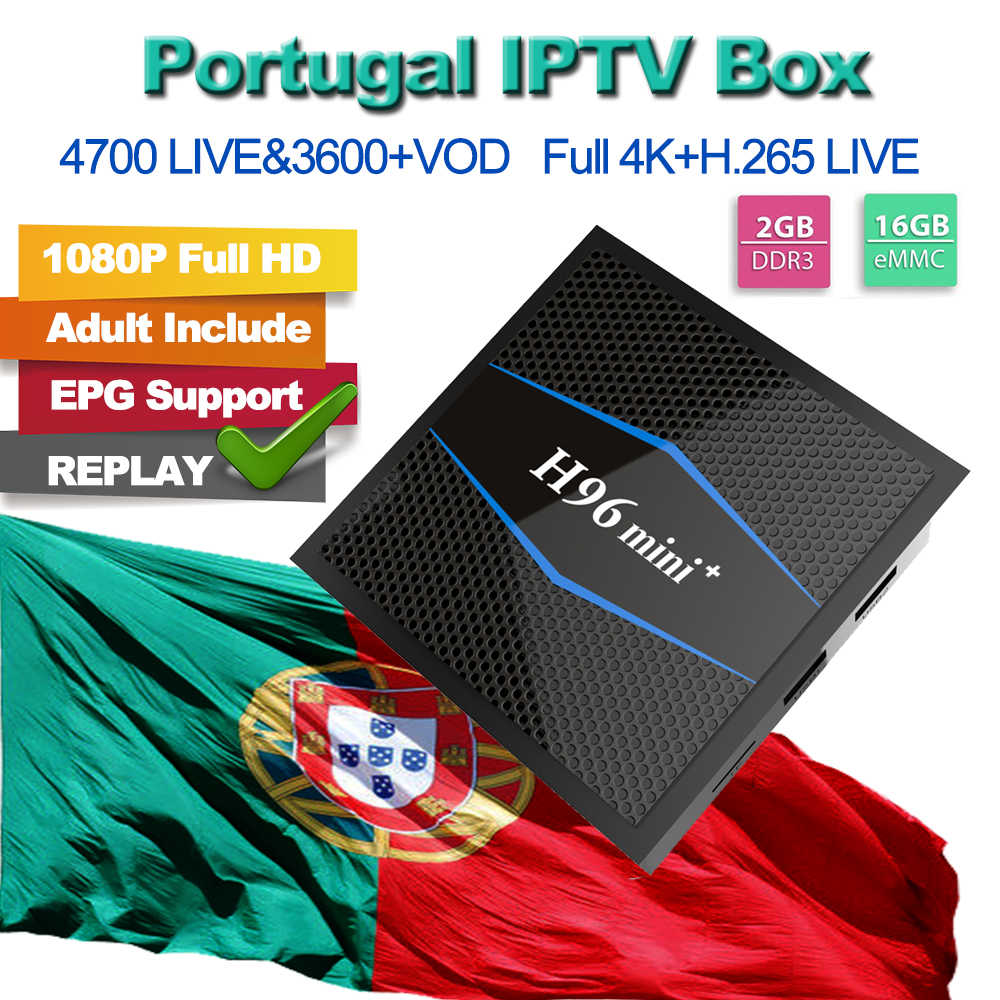 H96 Mini+ IPTV M3U TV Box For IPTV Portugal UK Germany Spanish TV Italy VOD Evelen Sport For M3u Enigma2 Smart TV PC Android VLC