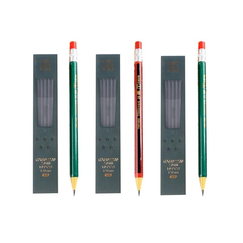 Mits 1 Set Vulpotlood Hervulbare Type Met Refill Doos Eenvoudige Klik 2.0mm
