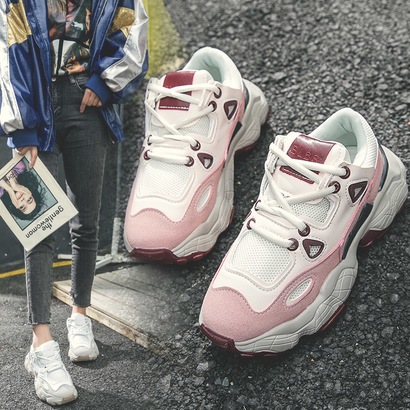 2019 pink sweet fashion women sneakers casual high quality comfortable basket femme Leisure Footwears wedges shoes espadrilles 2