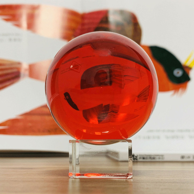 50/60mm Red Crystal Ball, Photography Glass Balls Magic Ball Fengshui Home Office Decor Table Ornament Kids Gift Wedding Decor